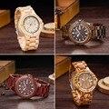 2016 Hombres Relojes de Lujo Relojes de Madera de Sándalo UWOOD Cuarzo Reloj de Vestir Casuales Relojes De Madera Reloj de pulsera para hombres Horas Montre