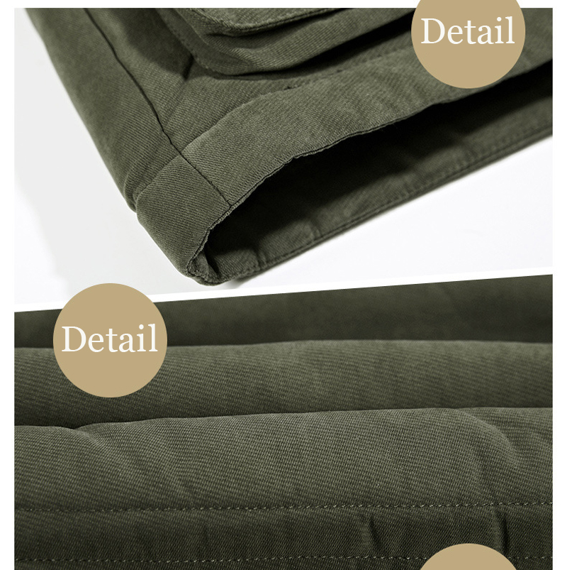 High Quality Men's Windbreaker Fleece Cotton Winter Jacket 14