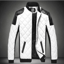 BOO 2019 men 's clothing of water washing leather fashion diamond, A leather jacket