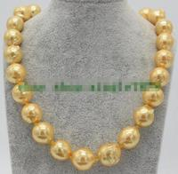 Natural Charming Hand Made 14 16mm Pearl Necklace 18 AAA