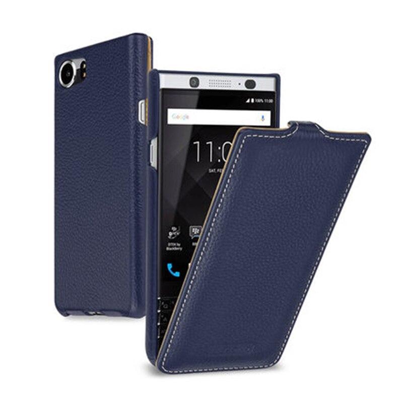 2017 nouvelle couverture de téléphone en cuir véritable pour Blackberry KEYone Case Business vers le bas Flip plaine sac pour Black Berry PRESS DTEK70 4.5