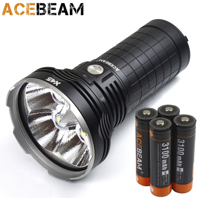 Newest free shipping AceBeam X45 16500 Lumens Beam Distance 583 Meters LED Search and Rescue Flashlight Included Batteries рюкзак high sierra sport x45 003 x45 01003