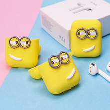 Cute Silicone Earphone Case For Apple Airpods Waterproof Shockproof Earphone Protective Cover for Airpods Air Pods Charging Box недорого