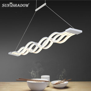 Image 1 - Asılı lamba Modern Led avize oturma odası yemek odası için mutfak parlaklık LED tavan avize aydınlatma fikstür armatürleri