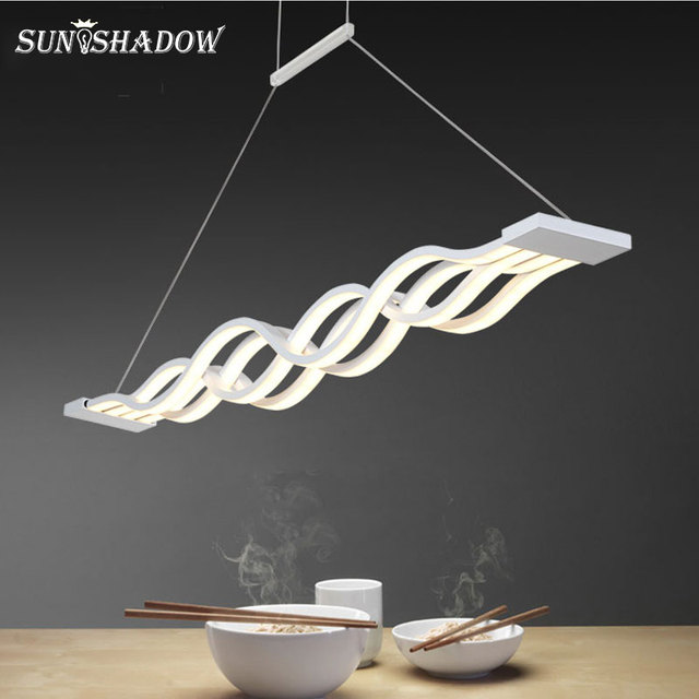 Asılı lamba Modern Led avize oturma odası yemek odası için mutfak parlaklık LED tavan avize aydınlatma fikstür armatürleri