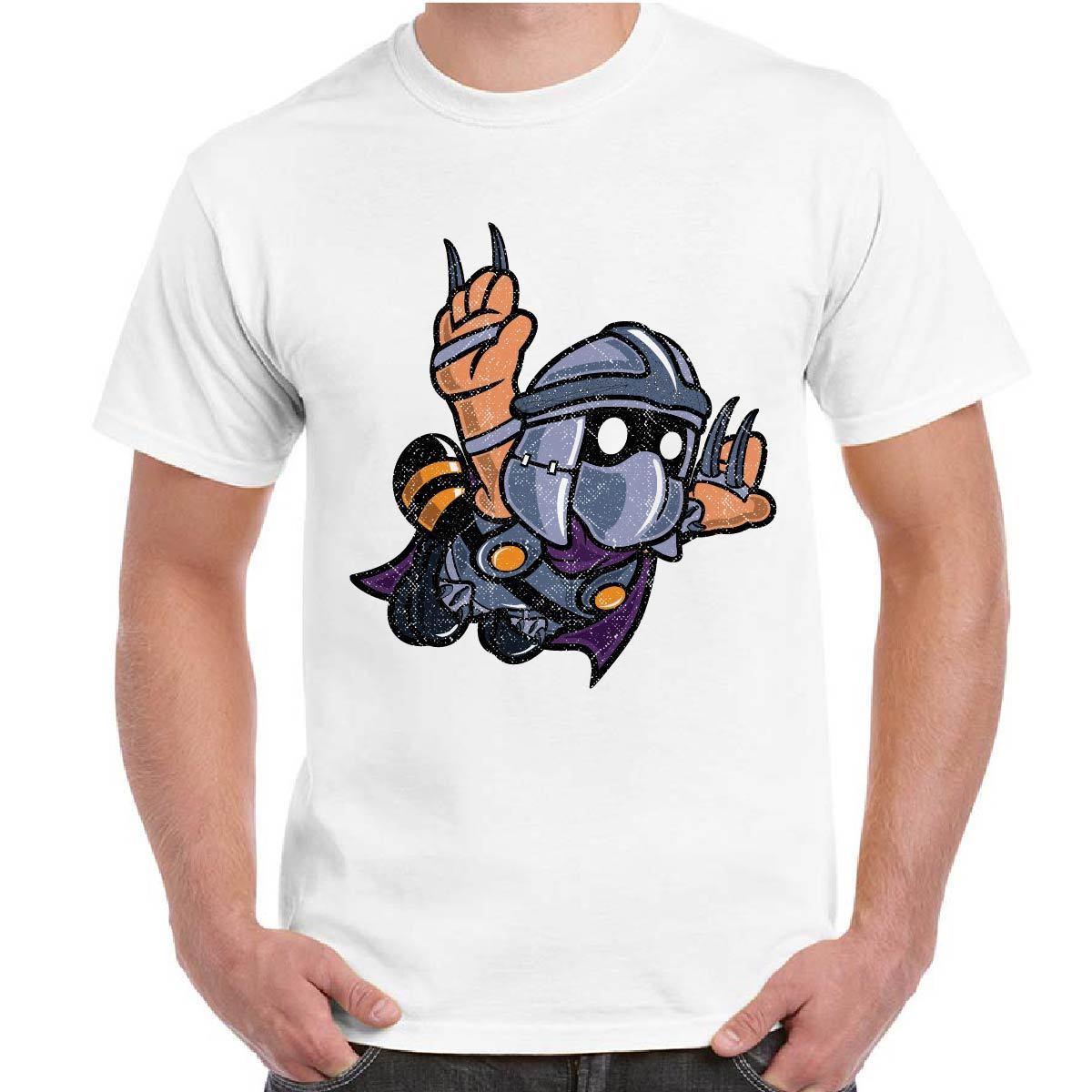 2018 Fashion Style T-Shirt Uomo Maglietta Maniche Corte Nerd Con Stampa Divertente Super Shredder Men T-shirt