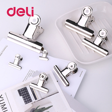 Deli 6pcs/lot round clamp spring clips for office supply stationery quality round clamp desk file clips mini dropshipping