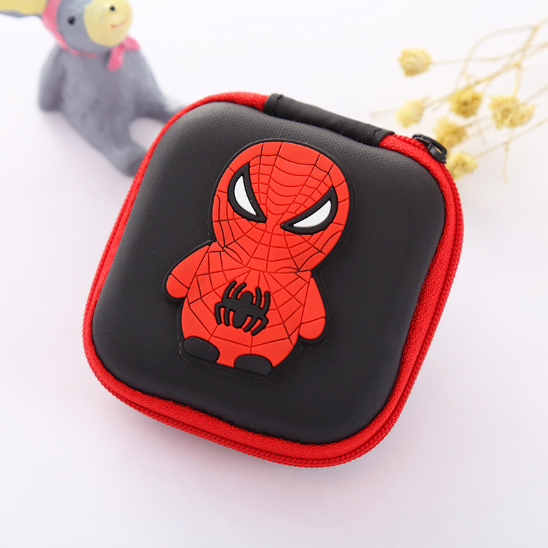 Kawaii Cartoon Anime Spiderman Coin Purse Hero Captain America Superman Batman Small Min ...