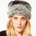 America And Europe Popular Autumn Winter Faux Fox Fur Cap Graffiti Pattern Plain Weaving Hair Bands Fashion Lady Style Fur Caps