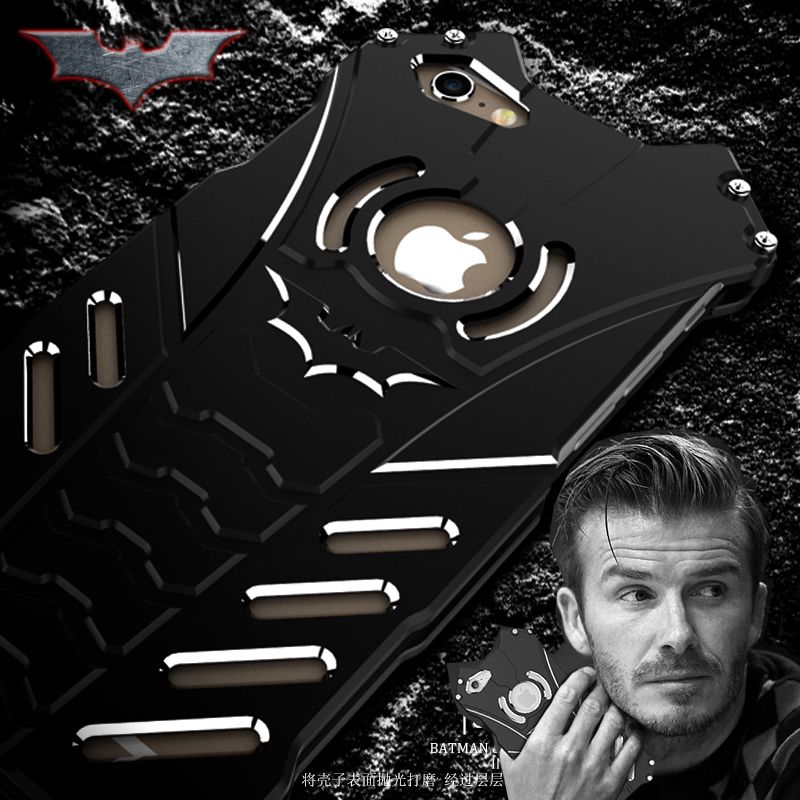 Цена за Металл алюминиевая рама + задняя крышка Бэтмен телефон чехлы для iphone 6S плюс 5.5 чехол оригинальный Дизайн холодный металл алюминий Броня R-просто