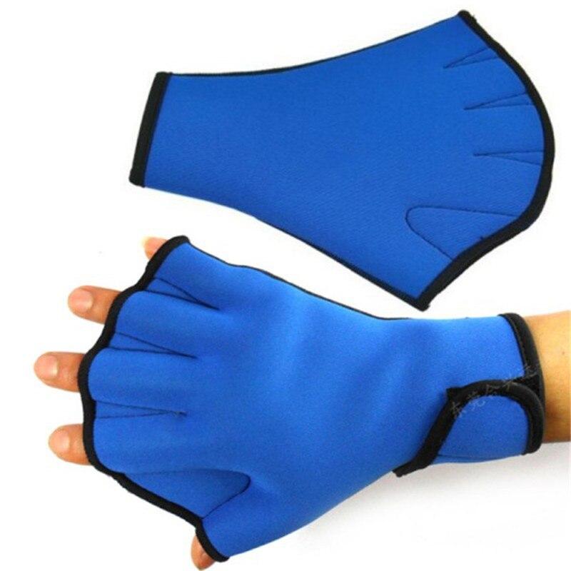 1 Pair Sphere Webbed Swim Gloves Surfing Swimming Sports Paddle Training Fingerless Gloves