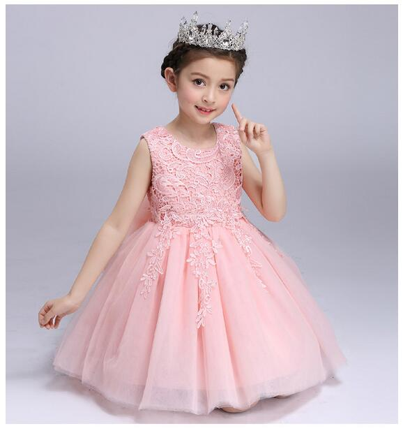 Baby Girls Pageant Formal Dresses 2017 Vest Flowers Gown Infant Girls Princess Tutu Dress Gauze Kids Birthday Wedding Dresses baby girls pageant formal dresses 2017 flowers vest satin infant girls princess tutu dress gauze kids birthday wedding dresses