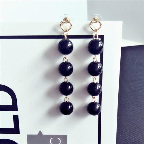 Long Pearl Earring Drop Heart Woem Simple Fashion Jewelry Nickel Free In Earrings From Accessories On Aliexpress