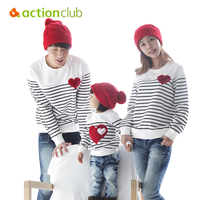 Actionclub Family Matching Clothing Soft Cotton Shirt Matching Mother Daughter Clothes Family Look Style Father Mother Son KU849