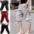 New Man shorts Summer mens Tether Cropped Harem trousers sweatpants Capri for men 4 Colors Size M L XL XXL