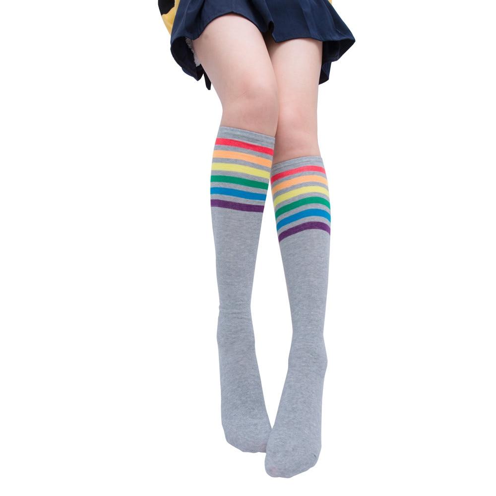 High Elasticity Girl Cotton Knee High Socks Uniform White Pearl Shell Women Tube Socks