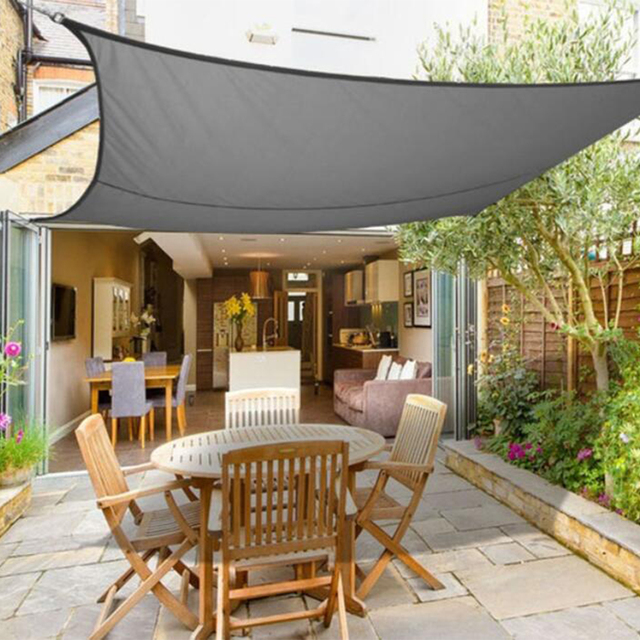 newest 7c711 98a08 US $29.97 |Grey Square 3x3/4x4m Retractable Sun Shade Shelter 160GSM HDPE  Farbic Garden Awning Canopy Sunshade-in Sun Shelter from Sports & ...