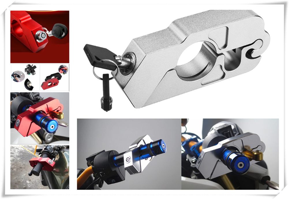 Motorcycle ATV Aluminum Alloy Anti-theft Security Lock Handle Brake For HONDA XR400MOTARD CRF250L M CRF1000L XR650R