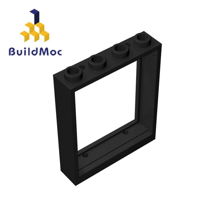 BuildMOC совместимые сборки частиц 6154 1x4x4 для строительных блоков части DIY логотип