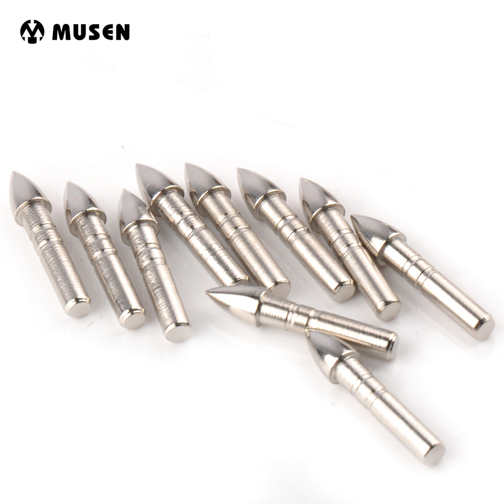 Carbon-Arrows-Tips Arrow-Heads Stainless-Steel Target-Point Shooting New For OD 7mm 20/40/100pcs