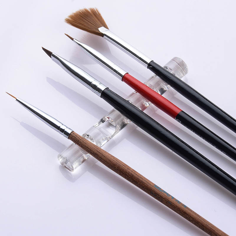 1Pc Nail Brush Stand Crystal Brush Holder Rack Clear Displayer Holder Nail Pen Display Rest Tool DIY Nail Painting Tools