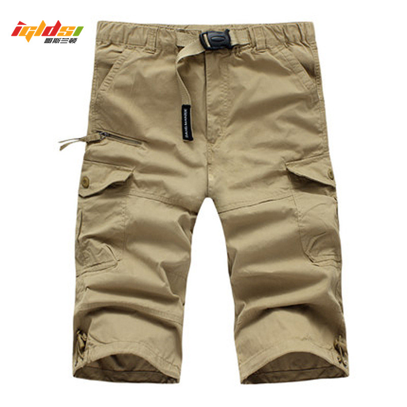 Waterproof Military Cargo Shorts Men Summer Quick Dry Loose Male Short Pants Thin Material Male Short Masculino With Belt M-3XL