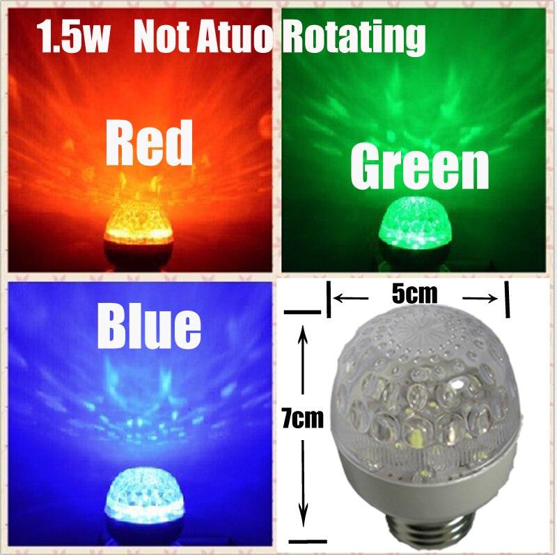 Купить с кэшбэком 10 Pcs Wholesale LED Stage Lamp RGB Magic Rotating Bulb Colorful Pattern Lamp For KTV/Ballroom/Bar 85-260V E27 3W Spotlight