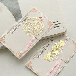 الذهب العلامات المعدنية ل كتاب خمر الزهور الصفحة كليب القرطاسية مكتب اكسسوارات chool إمدادات marcapaginas هدية