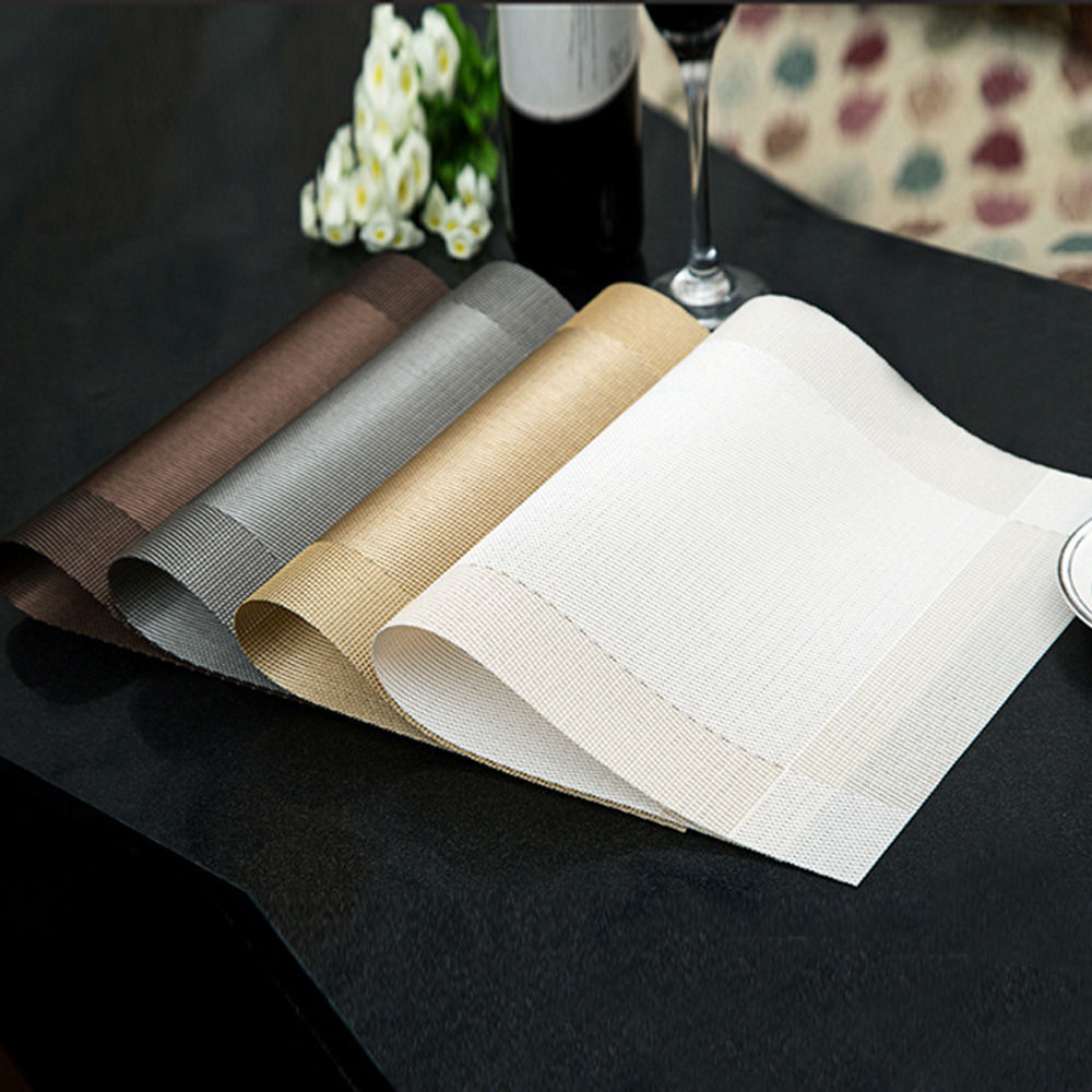 6Pcs Coasters Heat Resistant Pad Placemats Western Dining PVC Dinner Table Mats