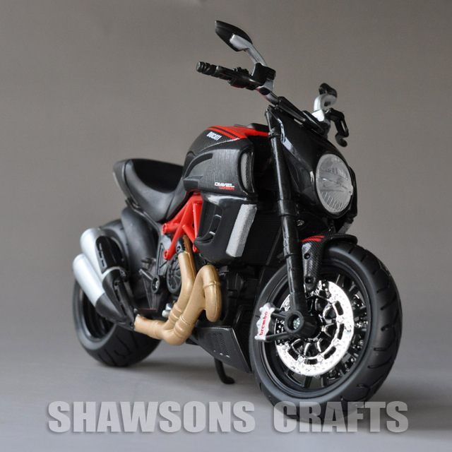 Diecast Model Toys Maisto 1 12 Ducati Diavel Carbon Sport Bike