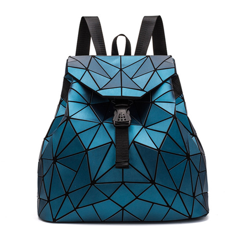 Geometric Bags Women Fashion Backpacks Girls Folding Teenagers Student School Crossbody