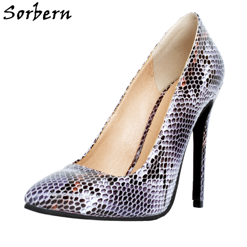 Sorbern Luxury Shoes Women Designers Pumps Women Shoes Slip On Pointed Toe Shoes Evening Party Heels High Heels Stilettos Purple newest flock blade heels shoes 2018 pointed toe slip on women platform pumps sexy metal heels wedding party dress shoes