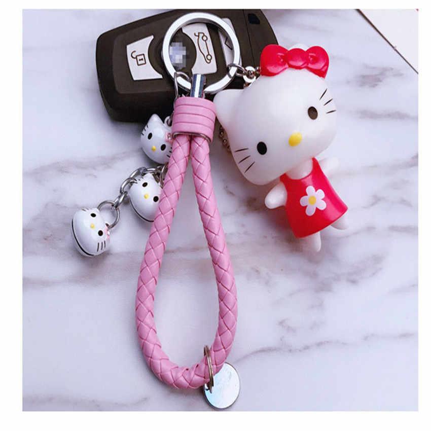 7a05d3e05 ... BOBFELOU Popular Hello Kitty Cute Key Chain Gifts for Women Llaveros  Mujer Couples Girlfriend Car Bag ...