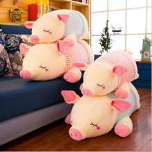 Hot Sale Eiderdown Cotton Lying Pigs Plush Toy Soft Doll Pig Children Birthday Gift