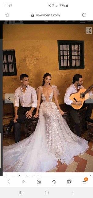 High end praia vestidos de casamento 2019 mangas compridas cor tribunal trem laço feito sob encomenda ver embora botão traseiro hk035