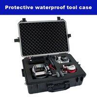 المهنية أداة صندوق الأدوات حقيبة تأثير مقاومة مختومة مقاوم للماء صندوق من البلاستيك معدات صندوق الكاميرا مع رغوة