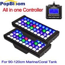 PopBloom лампе аквариум светодиод свет для морских танк Рыбалка Световой Сигнал acquario Марино аквариум освещение бака MJ3BP2