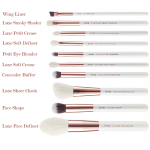 Image 4 - Jessup Brushes 10pcs Professional Makeup Brush Kit Pearl White/Rose Gold Natural Bristle Make up Brush Definer Shader T223