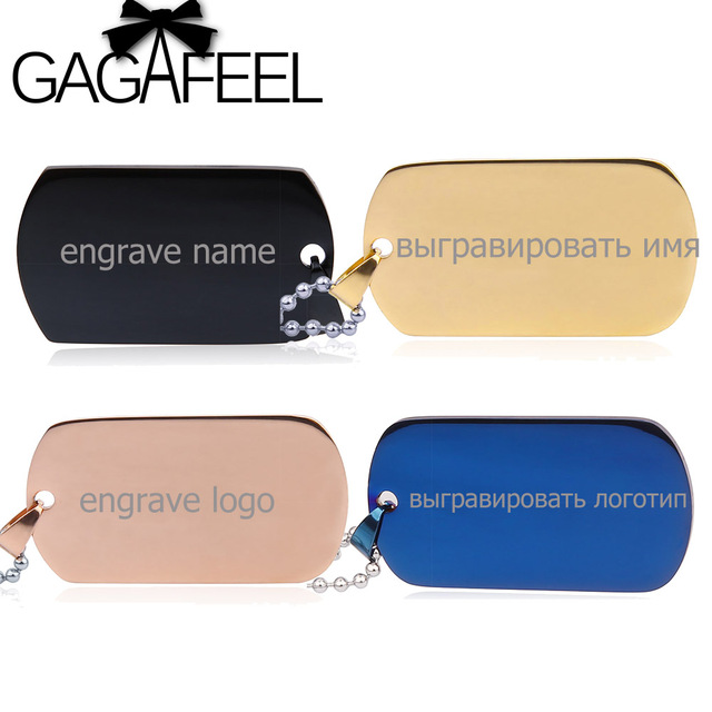 gagafeel five colors personalize custom logo stainless steel army