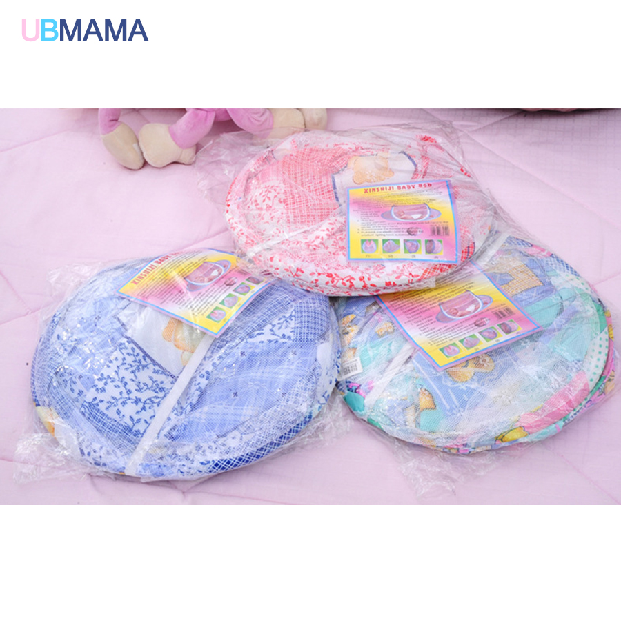 Купить с кэшбэком Mosquito net portable cotton folding foldable Portable zipper large size Colorful Dusty Boy girl baby with movable crib bed