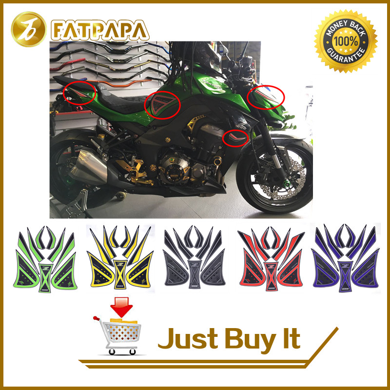 Motorcycle Whole Body Sticker Decal Sticker Decal Emblem Gripper Stomp Grips Easy For Kawasaki z1000 Z 1000 2014-2017 2015 2016 защита easy body суппортер голеностопа регулируемый