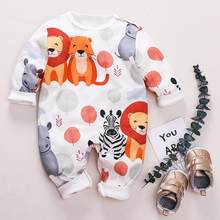 PatPat Summer and Autumn New Cotton Newborn Fashion Cute Animal Lion Hippo Jumpsuit Suitable For Baby Crawling Clothes(China)