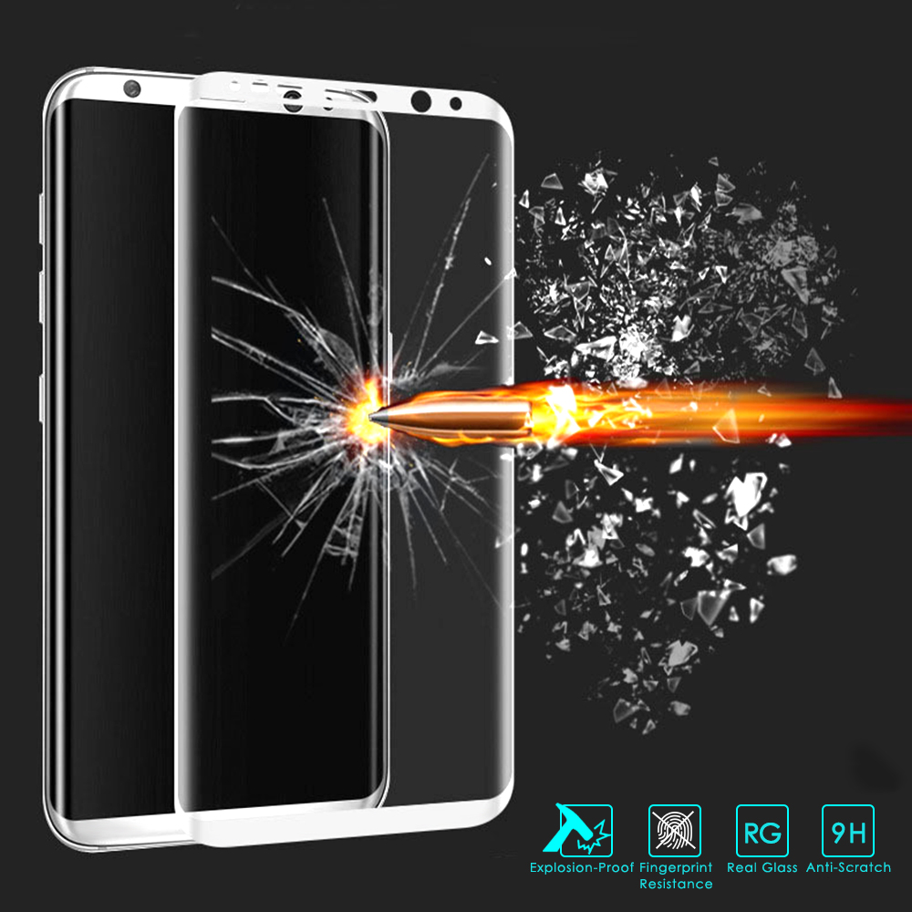 GXE S8 Plus S8+ 3D Curved Full Screen Cover Tempered Glass For Samsung Galaxy A3 A5 A7 2017 S7 Edge S6 Plus Screen Protector