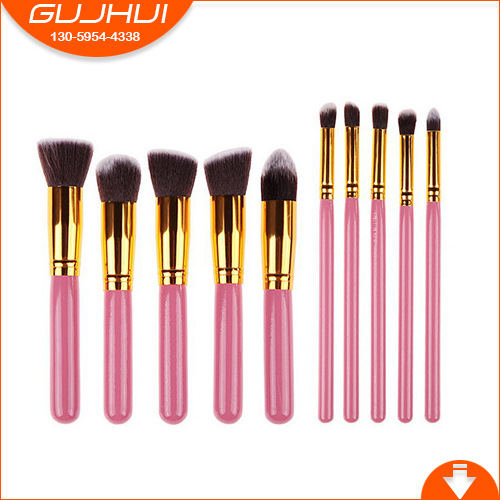 цены 10 Make-up Brush SGM, the Same Powder Handle, Golden Tube Makeup Brush, Set Beauty Tools, GUJHUI Manufacturing