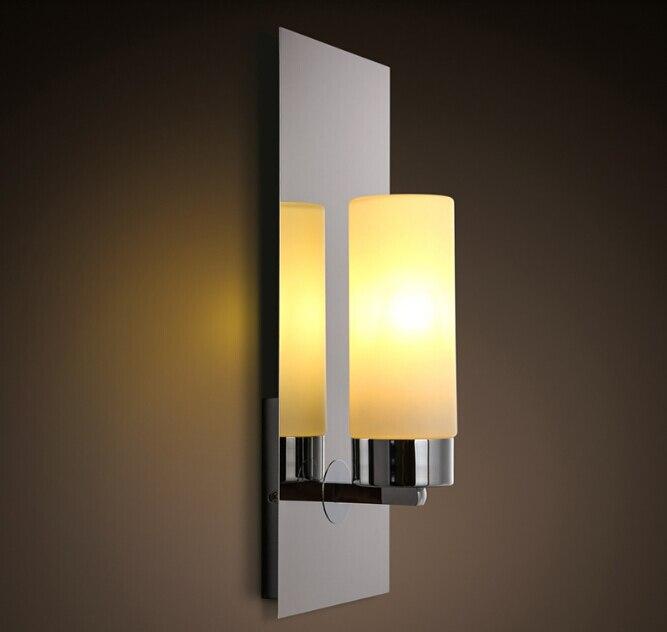 Nouveau Chrome Moderne Mur Led Lampes Appliques Lumieres Salle De