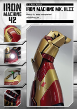Iron Man Mark 42 MK42 1/1 Movable Wearable Arm Glove with Launch Sound Laser Weapon and Hand LED zy082