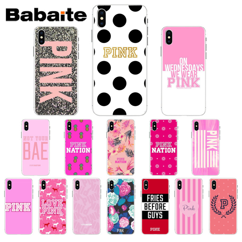 big sale 3ea49 3f8dc US $1.06 37% OFF|Babaite Pink Nation TPU Soft Phone Case Cover for Apple  iPhone 7 8 6 6S Plus X XS MAX 5 5S SE XR Mobile Cases-in Half-wrapped Cases  ...