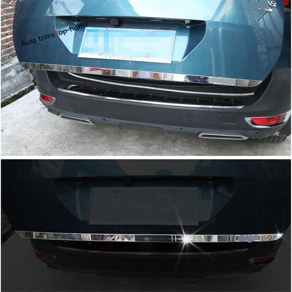 Yimaautotrims Exterior Rear Trunk Tailgate Tail Door Molding Lid Streamer Strip Cover Kit Fit For Peugeot 5008 GT 2017 2018 2019