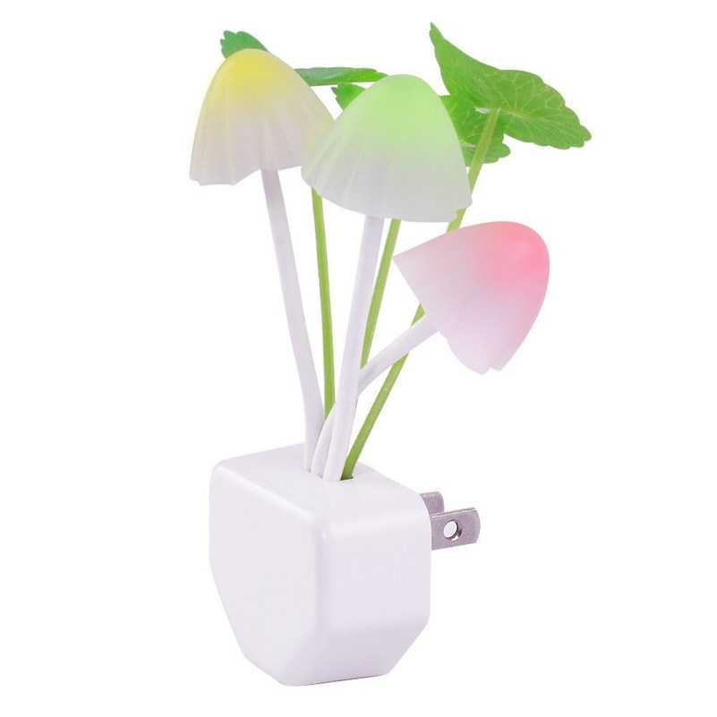 110V/ 220V Mushroom Night Lights Sensor Led EU US Plug Baby Room Led Night Light Automatic Control Lamp For Indoor Lighting