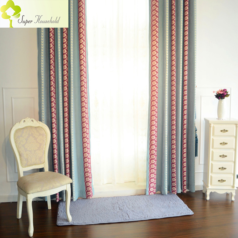 Fashion Stripe Rustic Curtain Yarn Bedroom Living Room: European Stripe Chenille Curtains For Living Room/ Bedroom